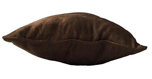 Pillowtex Suede Decorative Pillow 12 x20 Dark Brown