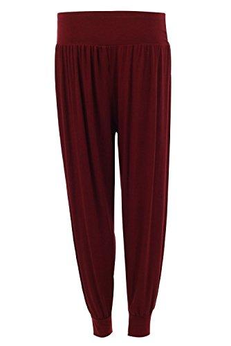 Forever Womens Full Length Plain Cuffed Ankle Harem Trousers