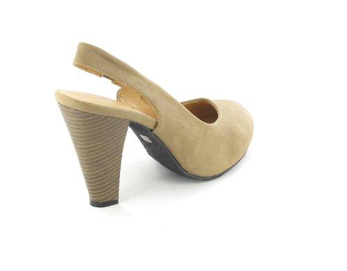 SALE - Andrés MACHADO - Sling-zapatos de mujer - marrón de zapatos en talla