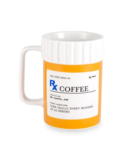 Ceramic RX Coffee Mug - Tea Cup (Pill Bottle Mug)