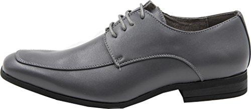 forro para cordones Zapatos de boda zapatos Gris derby de zapatos de ceremonia con piel qfPt4