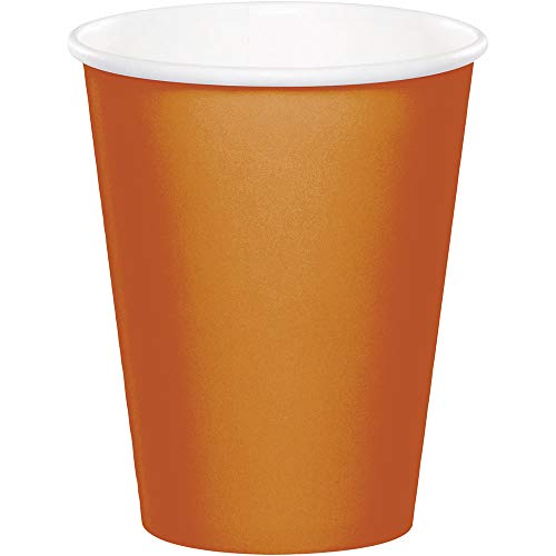 Club Pack of 240 Glittering Gold Disposable Hot/Cold Premium Cups 9 oz]()