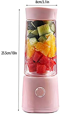 LQ&XL 400ML Mini Blender Multifuncional, Botella portátil de la ...