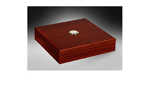 Desktop Cigar Humidor Humidifier - Up to 20 Cigars (Cherry) (Capri Humidor)