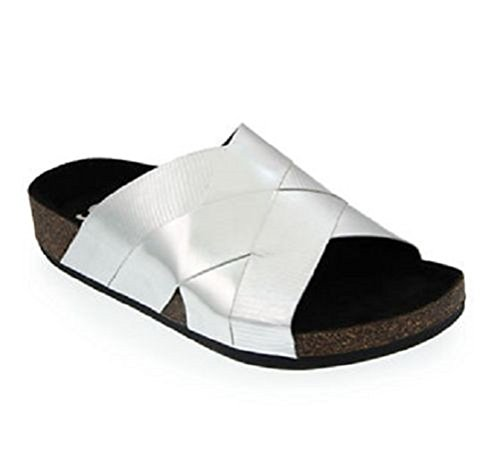 Circus By Sam Edelman Women's Allison slide sandals Silver (9 Med US, Silver)