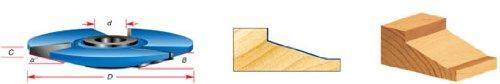 Amana Tool - SC404 Carbide Tipped 3-Wing Traditional Raised Panel 17 Deg x 4-15/16 Dia x 5