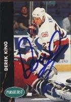 Derek King New York Islanders 1991 Parkhurst Autographed Card. This item comes with a certificate of authenticity from Autograph-Sports. Autographed -