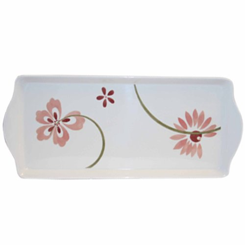 Corelle Coordinates by Reston Lloyd Melamine Tidbit Serving Tray, Pretty Pink