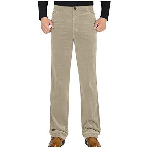 [해외]Men Solid Casual Pants Straight Plush Original-Fit Trousers Business Classic Long Pants / Men Solid Casual Pants Straight Plush Original-Fit Trousers Business Classic Long Pants Beige