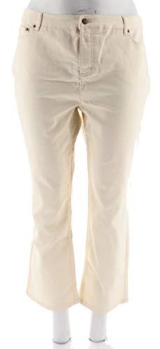 Liz Claiborne Ladies Jeans - Liz Claiborne NY Hepburn Colored Jeans A256508, Vanilla, 18WP