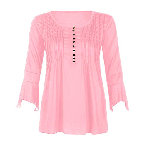 Shirt 3 Beikoard Femmes Sportswear Top 1 Tops Fuse V Slim Tee Chemisier Tops Boutons Manche Femme L'Automne T Rose Les Chemise 4 Cou YHcrYRB