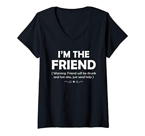 Womens if lost or drunk please return to my friend Couple  V-Neck T-Shirt ()