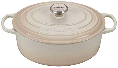 Le Creuset Signature Meringue Enameled Cast Iron 5 Quart Oval Dutch Oven