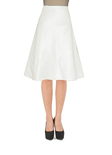 E K Women's plus size knee length taffeta skirt Short evening formal prom skirt-4x-ivory und by E K