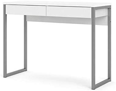 Levan Home 2 Drawer White Computer Writing Desk