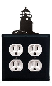 8 Inch Lighthouse Double Outlet Cover ()