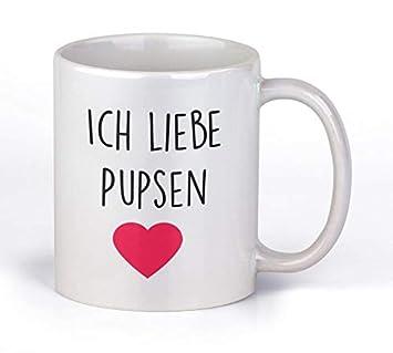 Tassenticker Ich Liebe Pupsen Kaffee Tee Becher Lustig Arbeit