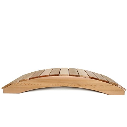 Red Cedar Garden Bridge - BeUniqueToday 4-Ft Garden Bridge in Western Red Cedar - Holds up to 800 lbs, Hardwood Doweling, Rust Resistant Zinc Plated and/or Brass Hardware, Manufactured Using Clear Grade Western Red Cedar