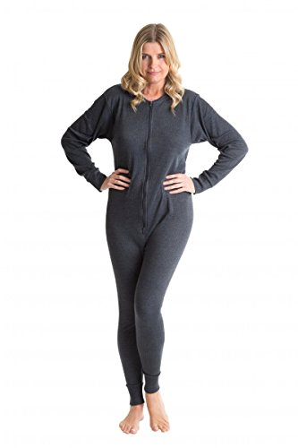 Octave Womens Thermal Underwear All In One Thermal Body Suit (L, Denim)