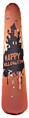 5 ft Bonk Fit High Performance Polyurethane Kids Inflatable Punching Bag Bop Toy PVC-Free with Machine Washable Designer Cover - Haunted (Recess Halloween Movie)