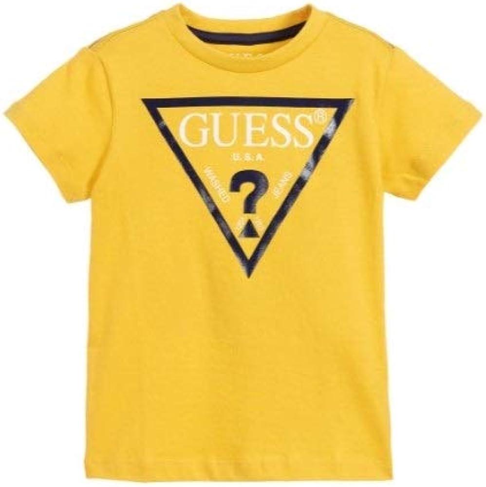 Guess SS - Camiseta de Manga Corta Amarillo 2 Años: Amazon.es: Ropa y accesorios