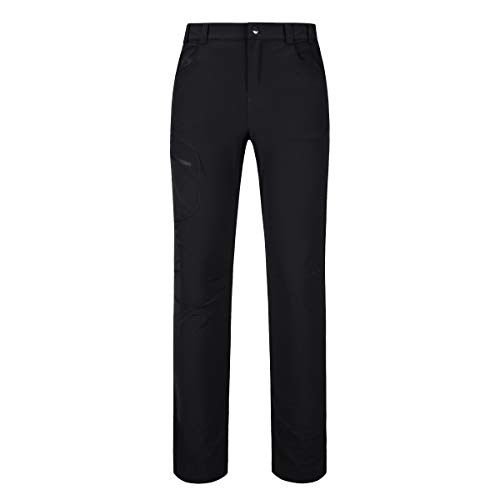 Diamond Candy Women's Lightweight Quick-Dry Hiking Mountaineering Softshell Outdoor Activewear Pants Black