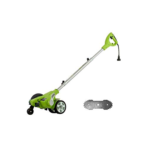 Greenworks 12 Amp Corded Edger with Extra Blade 27032 (Renewed)