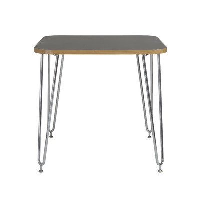 Eurø Style Hanh Activity Table Desk with Chromed Steel Legs, Gray Melamine Top by Eurø Style