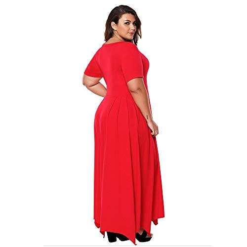 Cocktail Forti Abito Senza Lunga Donna Sexy Taglie Discoteca Zip Red Elegante Moda Festa Gonna OZukXTPi