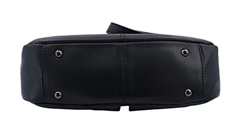 vachette cuir Noir porté de en Palme Sac travers Hexagona xq80ZwXHAn