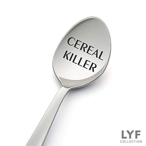 Cereal Killer Spoons - Perfect Cereal Lover Gift-Cereal Spoon Best Teenager Gifts On The Market - Crafted by LYF Collections