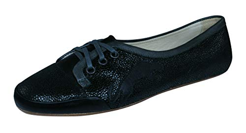 PUMA Rudolf Dassler Damenwahl Womens Leather Ballet Pumps/Shoes-Black-7.5 (Puma Dassler)