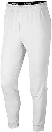 メンズ ドライ トレーニングパンツ (白、L)