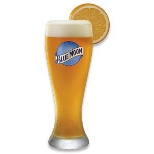 Blue Moon 16 Oz Pilsner Beer Glass Set of 2. Durable, High quality Pint glasses from Blue Moon brewing company. (Blue Moon)