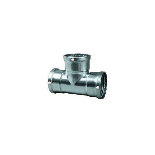 3/4 inch ProPress 304 Stainless Tee with FKM Seal (P x P x P) - Propress Reducer