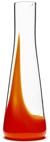 Bib&Sola Hand Blown Glass Water Decanter (1.2L),  orange