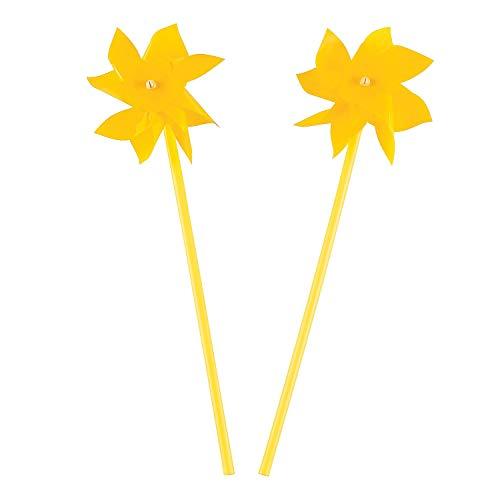 Fun Express - Yellow Pinwheels (3dz) for Wedding - Toys - Value Toys - Pinwheels - Wedding - 36 - Pinwheel Yellow