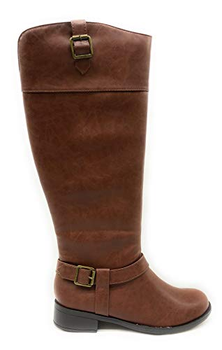 SODA Women's JDCarpet Riding Boot (9 M US, D. Tan PU)