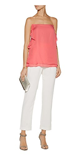 Ruffled Silk Camisole (10 Crosby Derek Lam Women's Pink Ruffled Silk Camisole (00, Pink))
