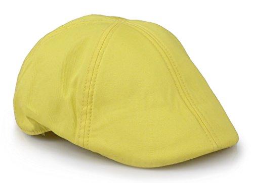 Sox Market Mens Cotton duckbill colorful Cap Golf Driving IVY Cabbie Hat (Banana) ()