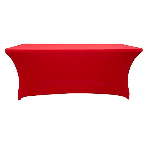 Rectangular Assembly Stretch Tablecloth Long bar Tablecloth Hotel Event Party Wedding Decoration red 183x74x76cm