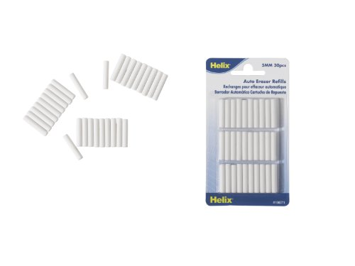 (Helix Automatic Eraser Refills, Pack of 30)