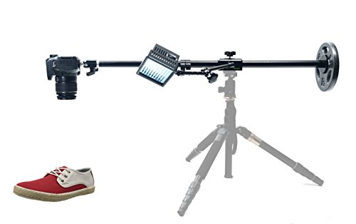 Glide Gear OH80 Camera / Smartphone Photo Video Overhead Adjustable Pole Tripod Stand w/ Friction Arm & LED Light by Glide Gear