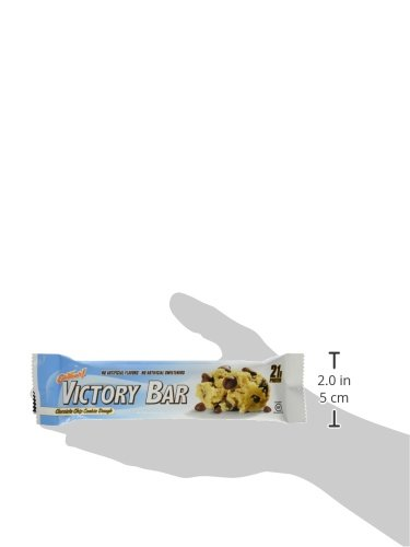 ISS Research Oh Yeah Victory Bars, Chocolate Chip Cookie Dough, 12 Count