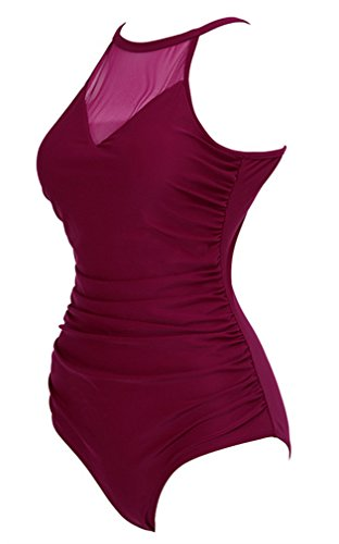 Femme Maillot Pièce Une Amoma Rosered nUqwYA0nP