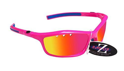 RayZor Professional léger UV400Rose pour Sport nautiques Lunettes de soleil, avec un objectif Miroir Rose aérés en iridium anti-reflets
