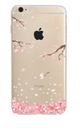 Price comparison product image iPhone 6 plus Case(5.5),Sakura drifting down from branches picturesque pale Pink Cherry blossom petals Soft TPU Thin Case for iPhone6s plus and iphone 6 plus( sakula Cherry petals )
