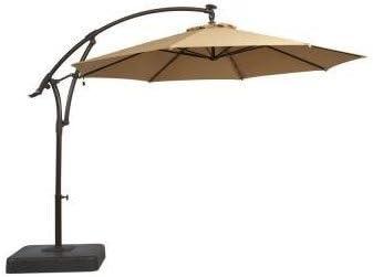 Hampton Bay 11 ft. Offset LED Patio Umbrella