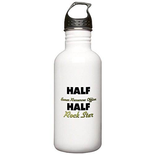 CafePress - Half Human Resources Officer Half Rock Star Water - Stainless Steel Water Bottle, 1.0L Sports Bottle