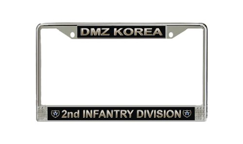 MilitaryBest U.S. Army DMZ Korea 2nd Infantry Division License Plate ()